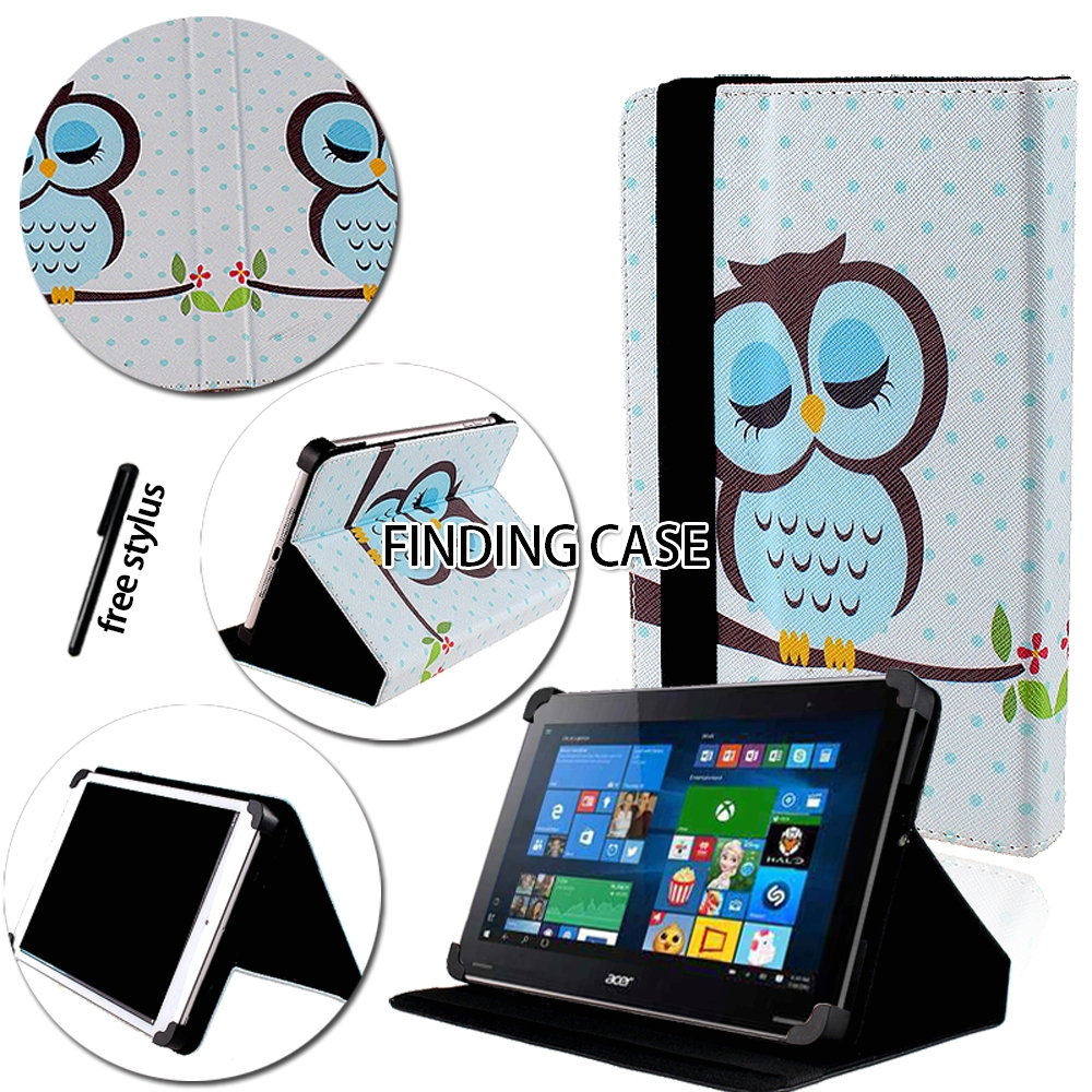 Shockproof Multicolor Folio Leather Stand Cover Case for Acer Iconia One 7 B1/ 8 B1/ 10 B3 Tablet + Stylus Tablet Accessories