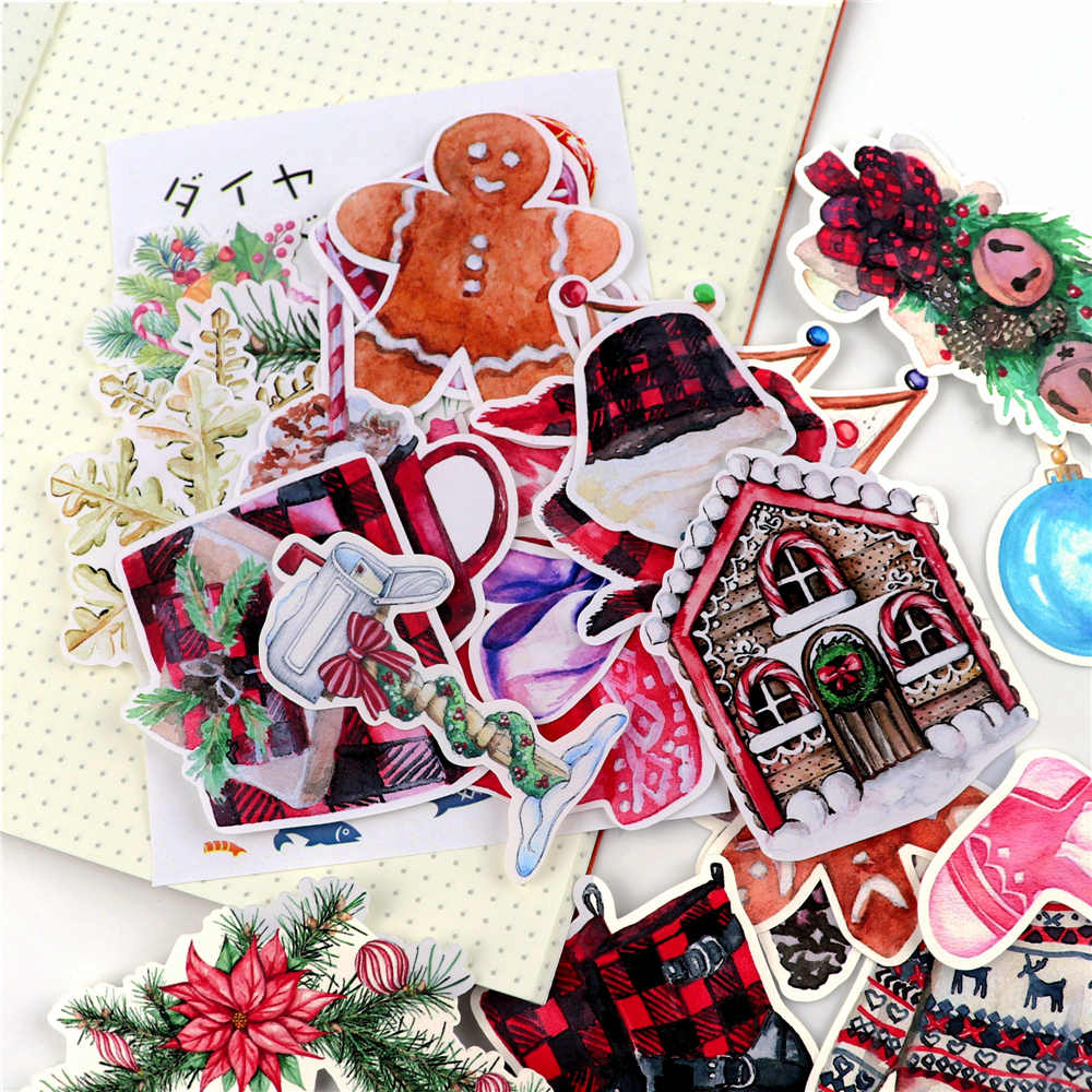 Kawaii Journal Theme Watercolor Sticker Christmas Stickers Magic Halloween Stationery Pegatina Thank You Cute Adesivo Gift