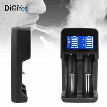 Battery Charger with USB Interface and Dual-slot for 18650 / 18490 18350 17670 17500