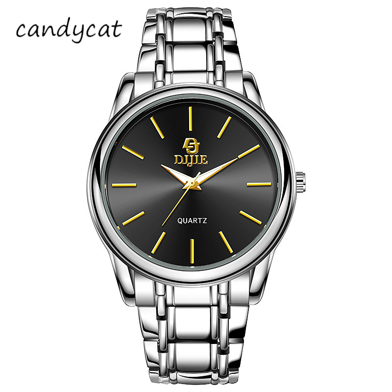 CandyCat Men's Business Watch Trend Simple Fashion Casual Student Bracelet Personalized Quartz Belt White Collar Business Wrist