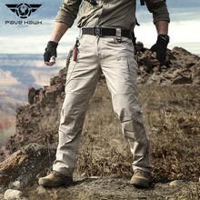 2020 City taktyczne spodnie wojskowe mężczyźni SWAT Combat Army wodoodporne spodnie mężczyźni wiele kieszeni odporne na zużycie Casual Cargo Pants tanie tanio PAVEHAWK Mieszkanie Poliester COTTON Kieszenie REGULAR Pełnej długości Tactical cargo pants Military Midweight Suknem