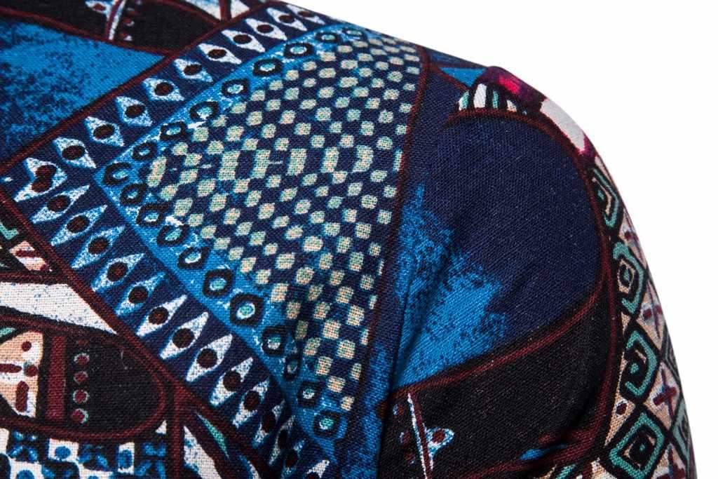 メンズアロハシャツエスニック半袖カジュアルシャツ綿リネン印刷シャツ夏ルースプラスサイズボタンシャツ