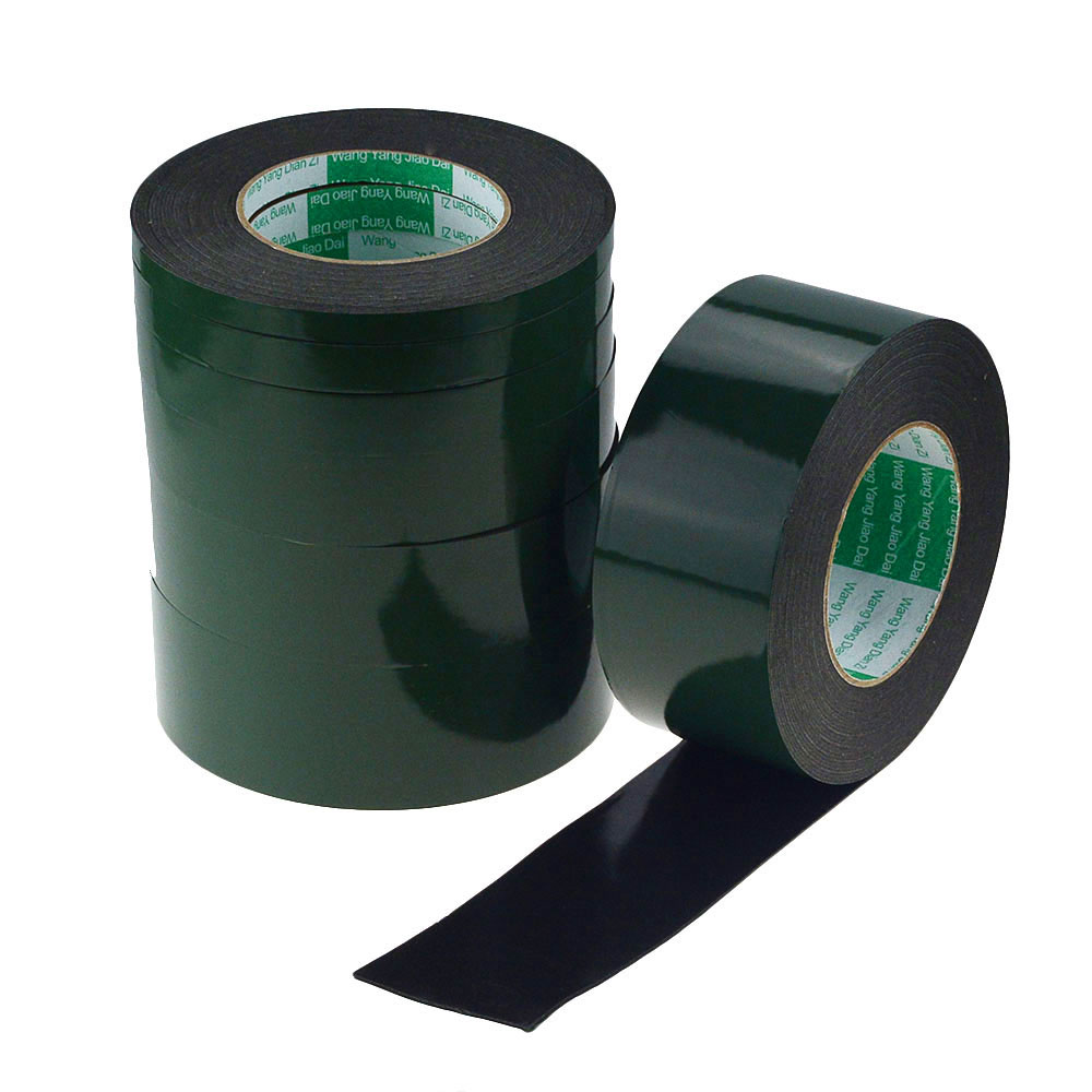 10M 5mm 25mm Double Sided Tape Strong Adhesive Black Foam Tape For Car Cell Phone Repair Gasket Screen PCB Dust Proof 1mm Thick