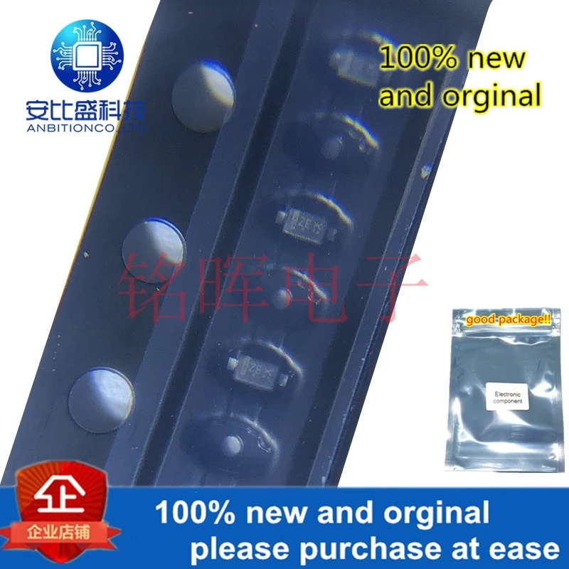 50pcs 100% New And Orginal ESD5Z3.3T1G Silk-screen ZE 3.3V SOD523 TVs ESD Diode In Stock