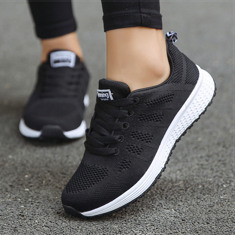 2020 New Women Shoes Weightlight Sneakers Women Vulcanize Shoes Sport Basket Femme Walking White Outdoor Casual Tenis Feminino