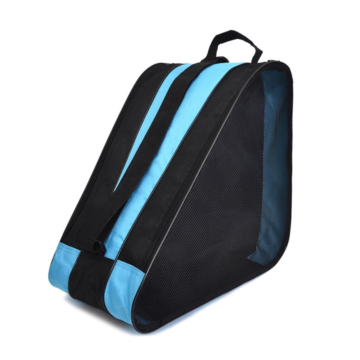 Durable Roller Skating Shoes Storage Bag Polyurethane Inline Skate Shoe Portable Handbags Carry Case 38*39*20cm