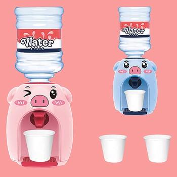 Przenośny śliczny dozownik do wody Mini zabawa świnia poidła symulacja poidła prezenty Cartoon dozownik do wody tanie i dobre opinie CN (pochodzenie) Mini Fun Pig Drinking Nowoczesne plastic
