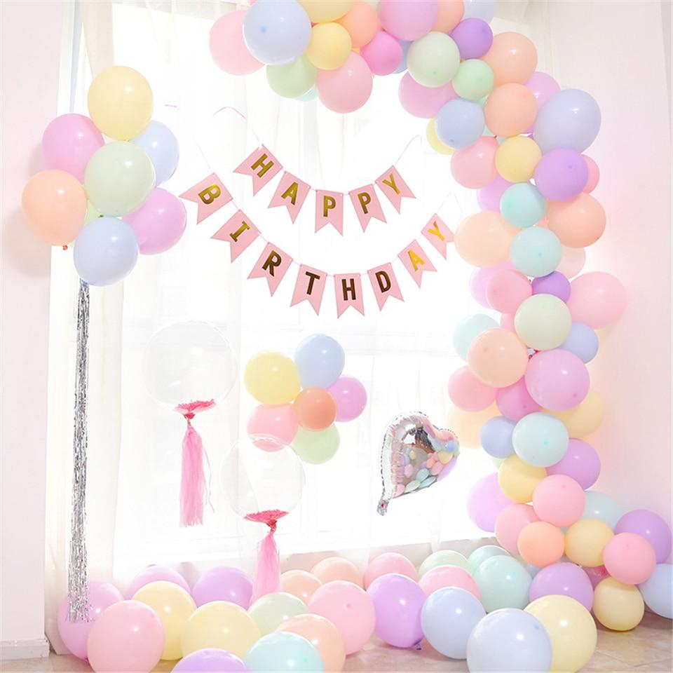 100pcs Macaron Balloons Pastel Party Latex Balloon Garland Colorful Candy Birthday Wedding Party Decoration Balloon Arch JL0137