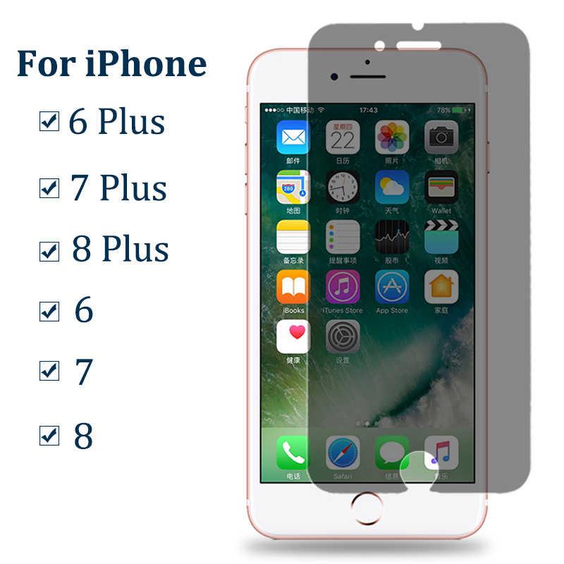 مكافحة التجسس الزجاج المقسى على ل فون 6 6S 7 8 زائد X XS غطاء حماية شاشة الخصوصية ل فون XR XS ماكس 7 8 طبقة حماية