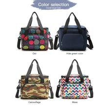 2021 New Printed Portable Picnic Bag Oxford Cloth Insulation Bag Double-Layer Portable Lunch Portable Insulation Bag Ice Pack