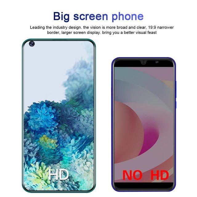 2021 7.2 Polegada 4g 5g ultra telefones celulares galay s30 pro 5000mah android 10.0 12gb 512gb duplo sim tela de toque caracterizado telefone inteligente 5