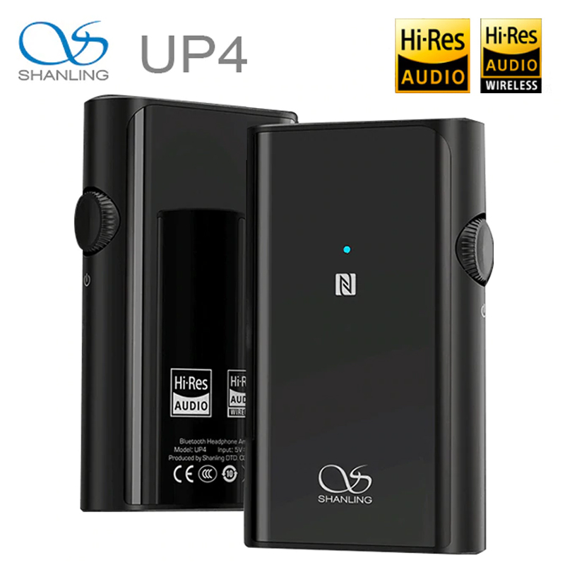 SHANLING UP4 Amplifier Dual ES9218P DAC/AMP Portable HiFi CSR8675 Bluetooth 5.0 Balanced Output Headphone Amplifier