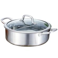 Soup-Pot Stainless-Steel with Pot-Cover Multi-Functional High-Temperature Cooking-Boiler