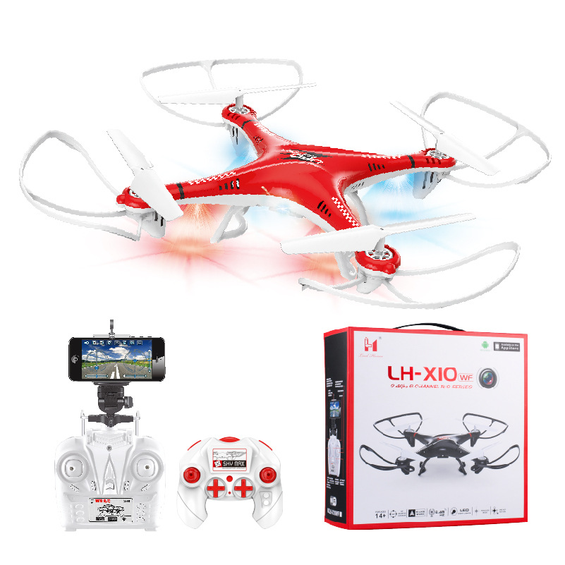 Li Huang X10 Remote-control Four-axis Aircraft Real-Time Drone For Aerial Photography Remote Control Aircraft Drop-resistant Mod