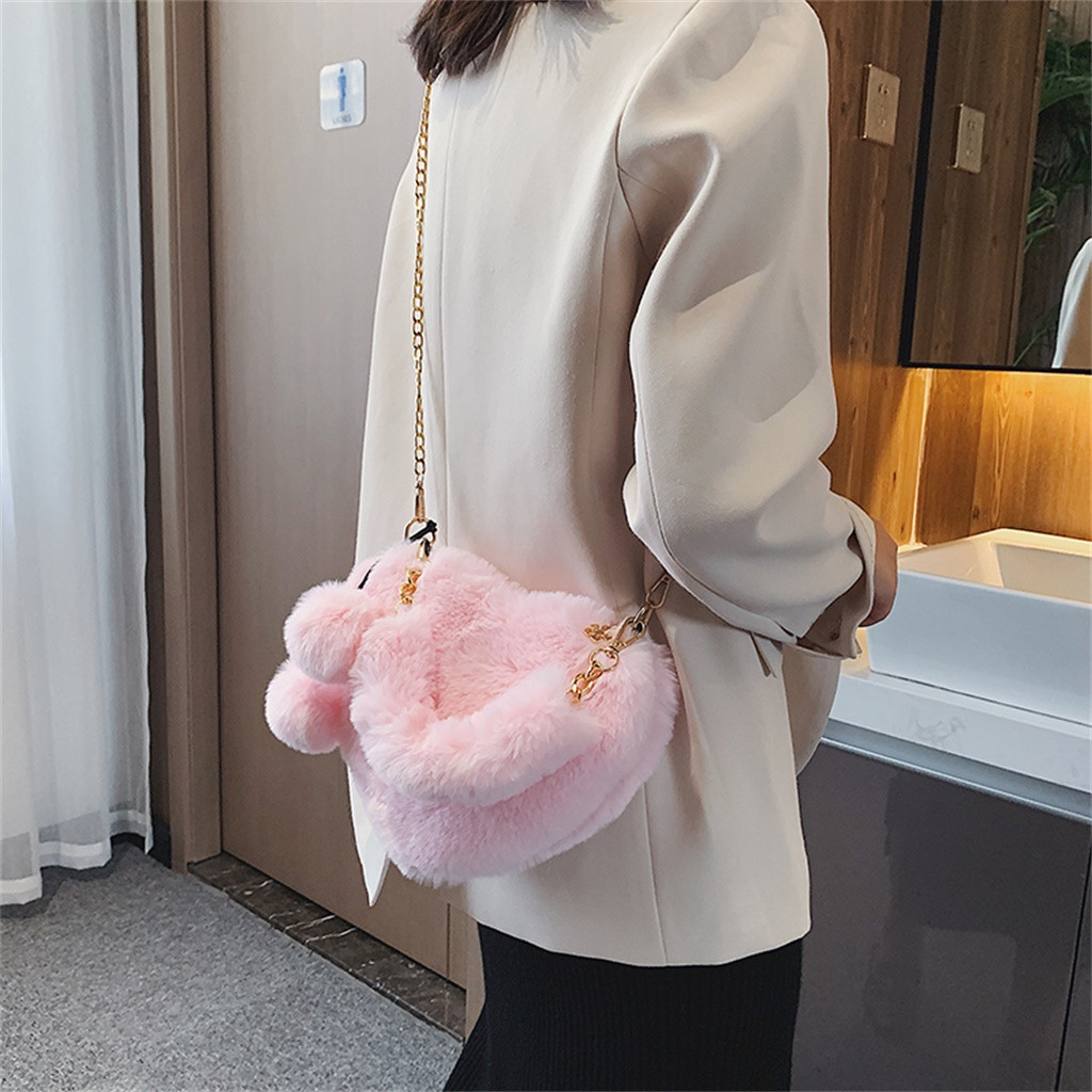 H18e0402e6ac84cd7acc1497a200e7c26Q - Fashion Women Handbags | Cute Fluffy Fur