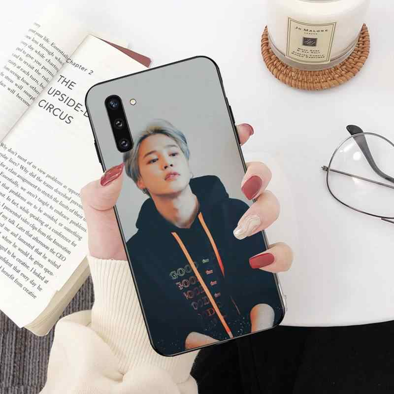 NBDRUICAI Kawaii אסתטי jimin kpop סיליקון טלפון Case כיסוי עבור סמסונג גלקסי J7 J8 J6 בתוספת 2018 ראש הערה 7 8 9 10 פרו