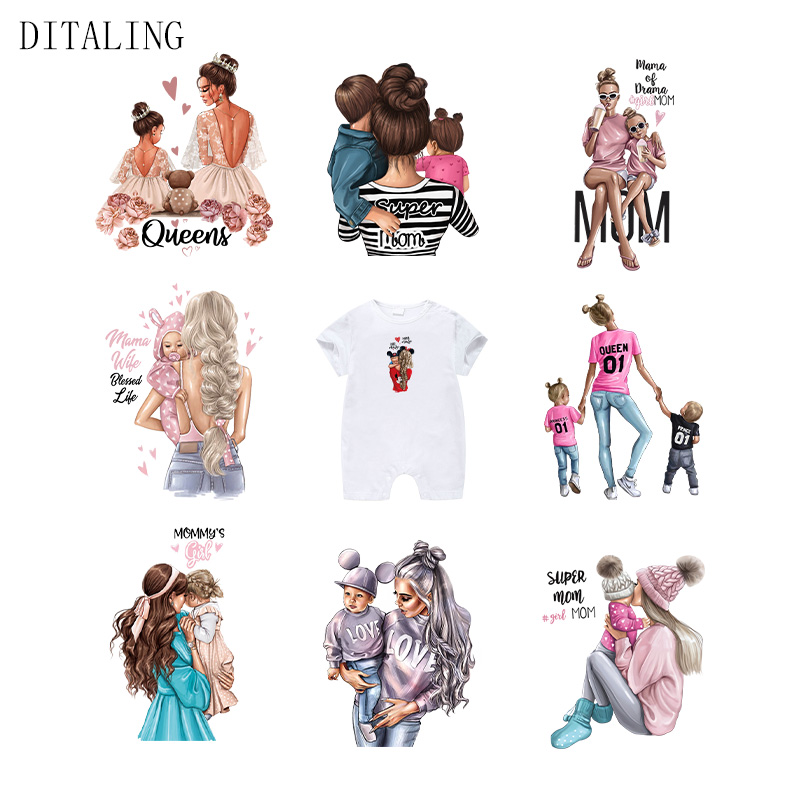 Нашивки для русской мамы на одежду, футболки для девочек и мальчиков, термонаклейки на толстовки, моющиеся пользовательские нашивки, термот...