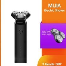 Razor Beard-Trimmer Shaving-Beard-Machine Electric-Shaver Dual-Blades Washable Xiaomi Mijia