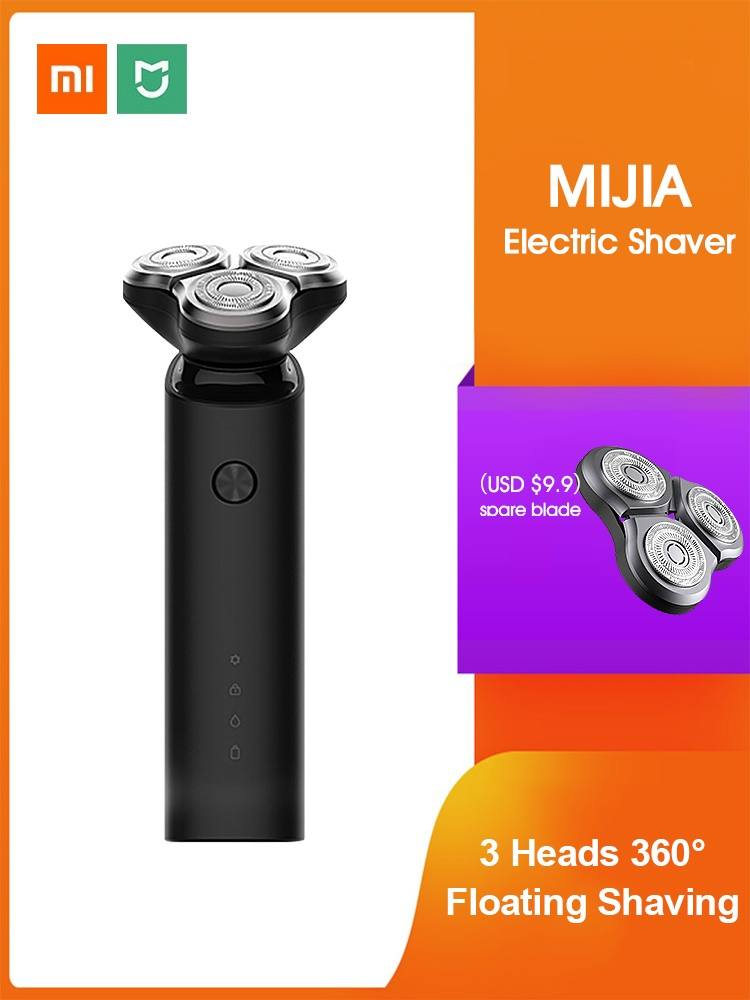 Razor Beard-Trimmer Shaving-Beard-Machine Electric-Shaver 3d-Head Dual-Blades Washable