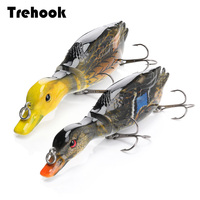 TREHOOK 13cm 34g Duck Fishing Lure Jointed Hard Bait Artificial Lures Pike/Floating Wobblers for Fishing Crankbait Swimbait