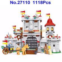 Ausini 27110 1118 шт рыцарский замок, карета средневековый строительный блок игрушка