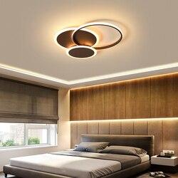 Nowoczesne lampy sufitowe LED salon sypialnia lustre de plafond moderne oprawa plafonnier kawa LED lampa sufitowa
