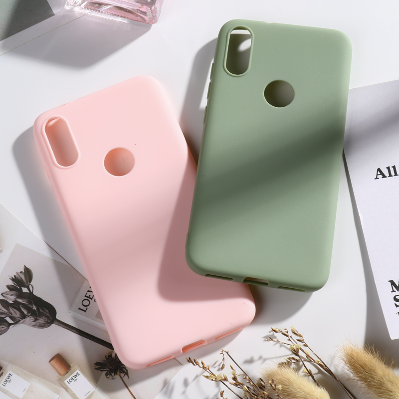 Soft TPU Silicone Case For Xiaomi Mi Play Candy Color Phone Back Cover Fundas
