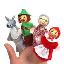 Baby Tell Story Finger Puppets Three Pigs Mermaid Castle Princess Cartoon Theater Role Play Educational Toys For Children Gifts