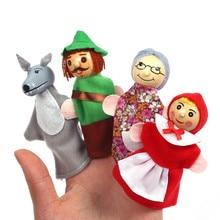 Bebê contar história fantoches dedo três porcos sereia castelo princesa dos desenhos animados teatro role play brinquedos educativos para crianças presentes