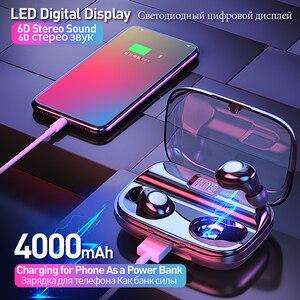 Image 2 - TWS Bluetooth V5.0 이어폰 무선 헤드폰 소음 차단 IPX6 방수 6D 스테레오 스포츠 헤드셋 이어 버드 4000mAh 전원