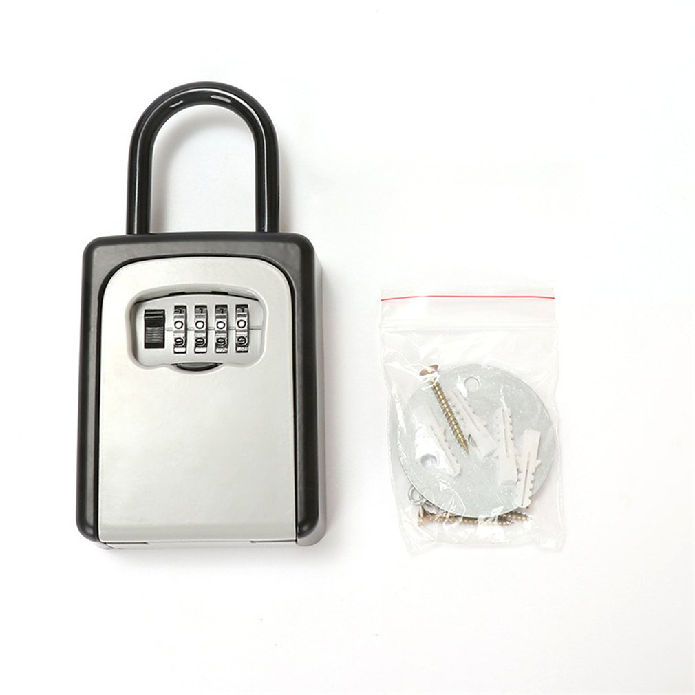 Door Handle Padlock Password Key Box Key Storage Lock Box Decoration Password Lock Key Storage Box Key Lock Box