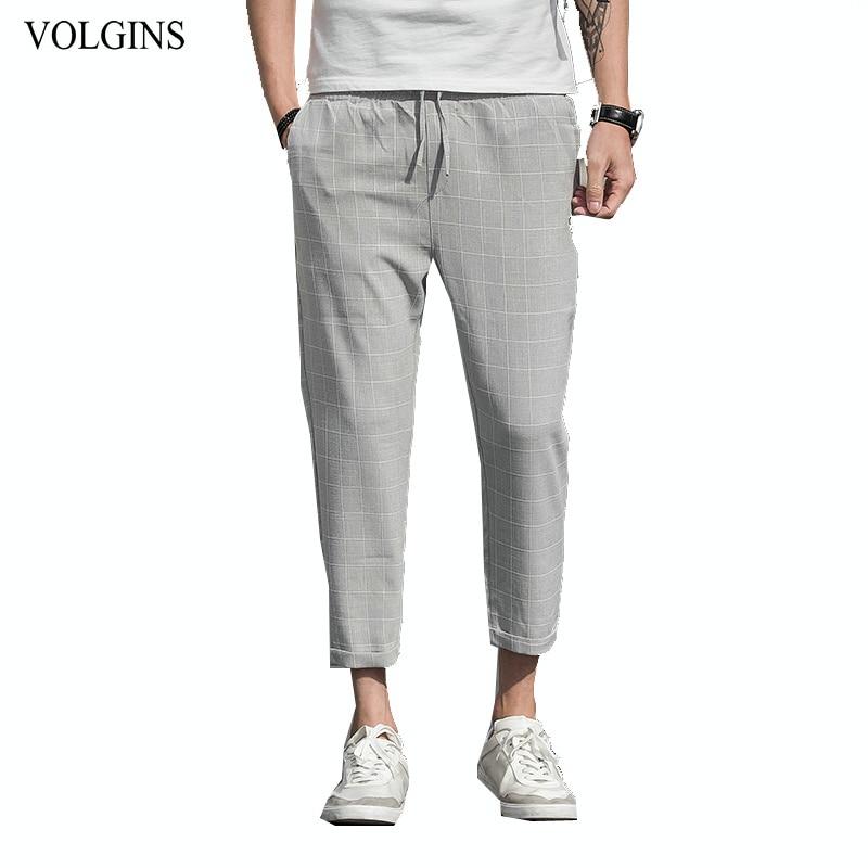 Streetwear 2020 New Mens Plaid Pants Slim Fit Dress Pants Men Plus Size Casual Pants For Men Ttrousers