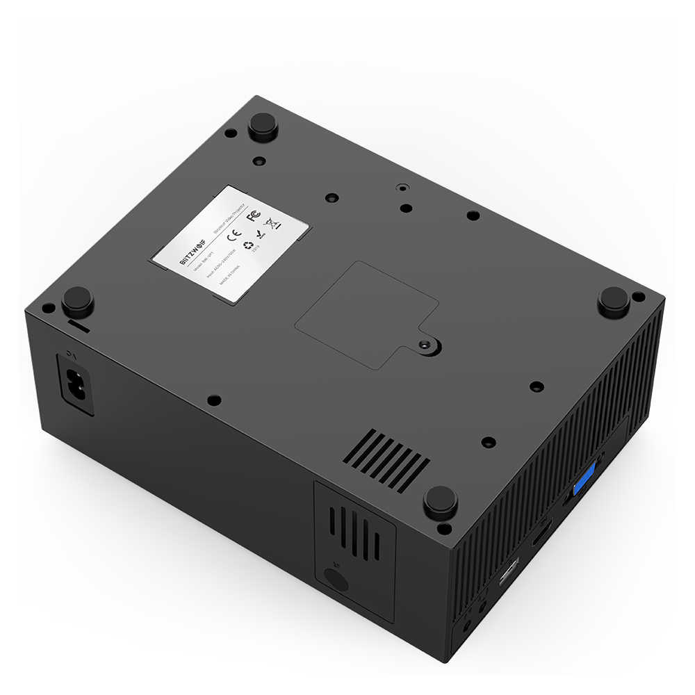 Blitzwolf BW-VP1 LCD 프로젝터 2800 루멘 지원 1080P 입력 다중 포트 원격 제어와 휴대용 스마트 홈 시어터