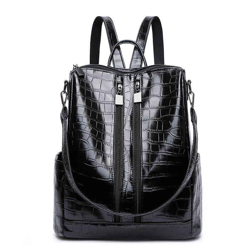 Vento Marea New Women Backpacks Shoulder Bag Leather Female Vintage Large Daypack 2019 Multi-functional Lady Girl Travel Bagpack