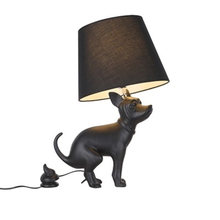 Postmodern minimalist Black Dog LED table Desk Lamp light Fixture Bedroom Ac90-260v resin standing reading lamp home Lighting(China)