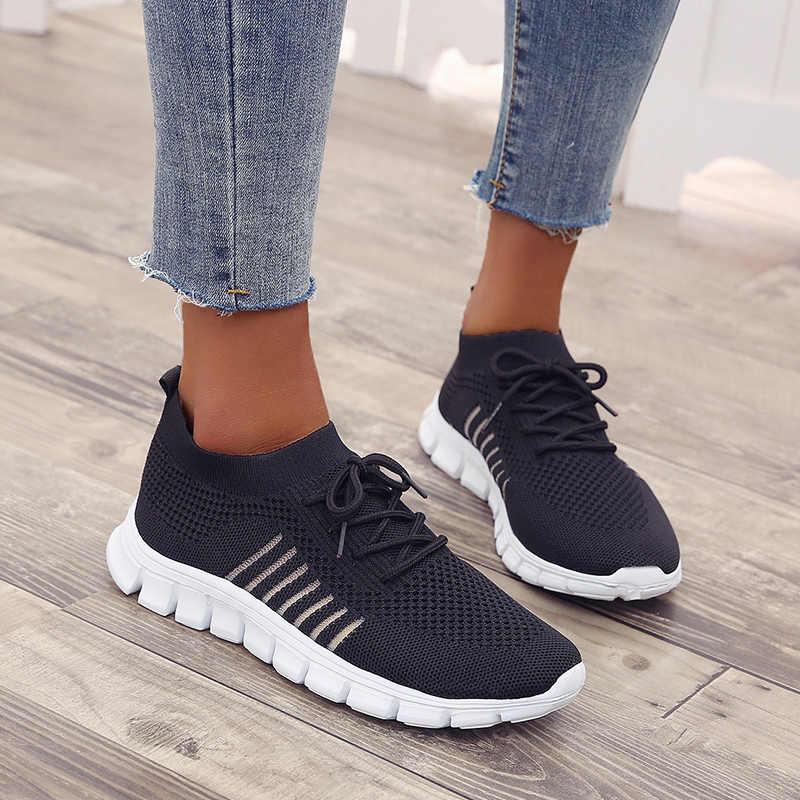 Cheap Mesh Black Sneakers Women Soft