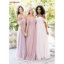 Тюлевые Платья для подружек невесты 2020 с открытыми плечами