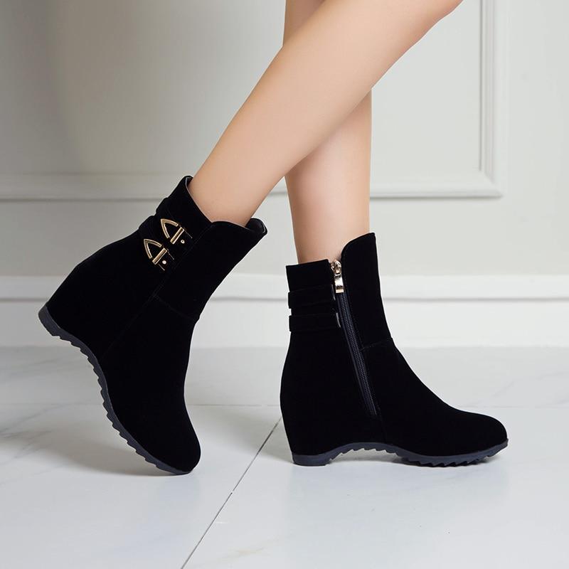 metal salto alto senhoras tornozelo botas inverno