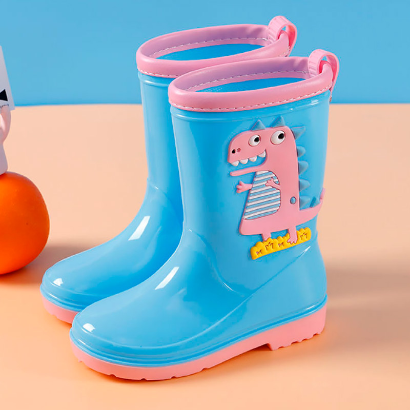 Kids rain waterproof shoes high top childrens rain ankle boots anti slip wear resitant boy and girls autumn shoes 2020