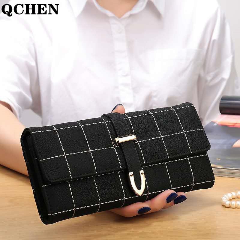 Wallets Women Long Lattice Female Money Bag Credit Card Holder Zipper Luxury Brand Leather Coin Purses Tassel Design Clutch 440q