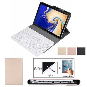Caso de teclado fudna para samsung galaxy tab um 10.1 2019 SM-T515 t510 t515 tablet magnético inteligente bluetooth teclado capa + filme