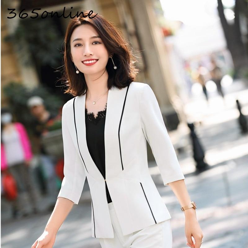 Formal Uniform Designs Women Suits OL Styles for Ladies Office Professional Work Wear Spring Summer Blazers Set