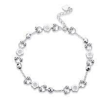цена SA SILVERAGE Star Bracelets & Bangles for Women Jewelry Rhinestone 2020 Love Bracelet Bracelet Female 925 Sterling Silver онлайн в 2017 году