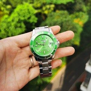 Image 5 - זוכה הרשמי הקלאסי אוטומטי שעון מכאני עסקי גברים שעונים למעלה מותג יוקרה פלדת רצועת לוח שנה שעוני יד חמה