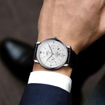 Luxury Brand Switzerland LOBINNI Men Watches Perpetual Calender Auto Mechanical Men's Clock Sapphire Leather relogio L15008-9 6