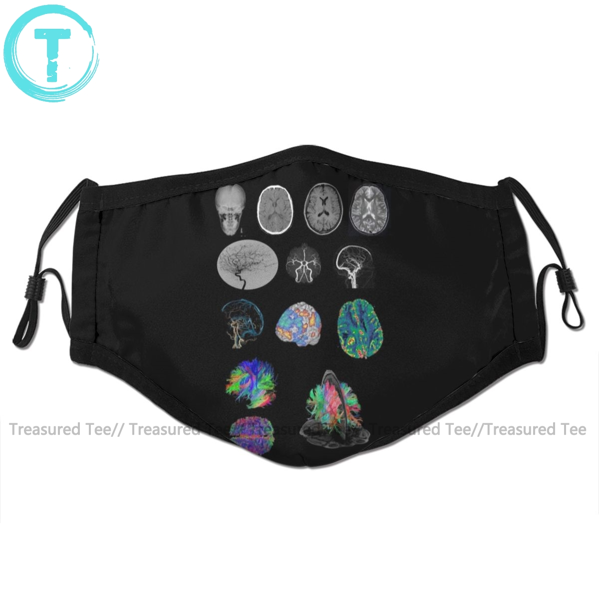 Radiology Mouth Face Mask Brain Imaging Facial Mask Cool Kawai With 2 Filters For Adult