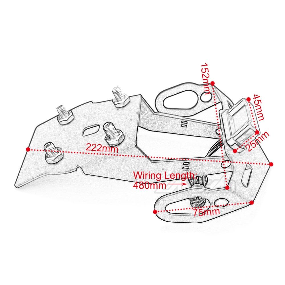Yzf R15 V3 Motorcycle License Plate Frame Bracket Mount Holder With Led Indicator Light For Yamaha R15 V3 2017 2018 2019 2020 Covers Ornamental Mouldings Aliexpress