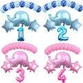 14 шт 12 дюймов мультфильм латексные воздушные шары Детские вечерние украшения на день рождения Синий Розовый Слон Детские воздушные шары дл...