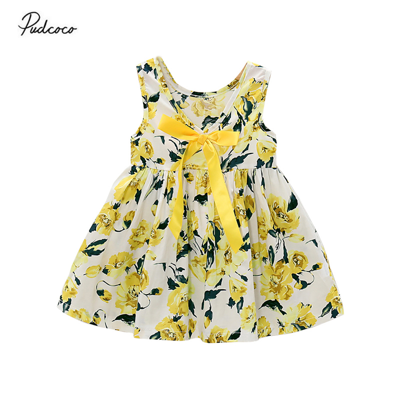 Baby Girl Summer Sleeveless Backless Floral Short Party Princess Dress Outfits