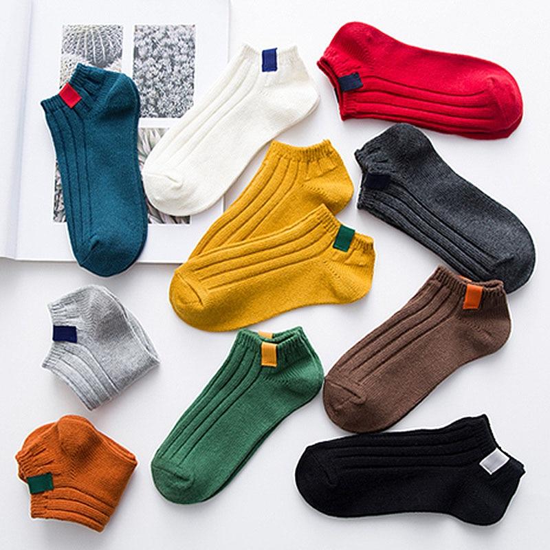 Однотонные женские носки, модные теплые хлопковые носки для девочек, женские домашние короткие носки для сна, повседневные носки в стиле Харадзюку|Носки|   | АлиЭкспресс